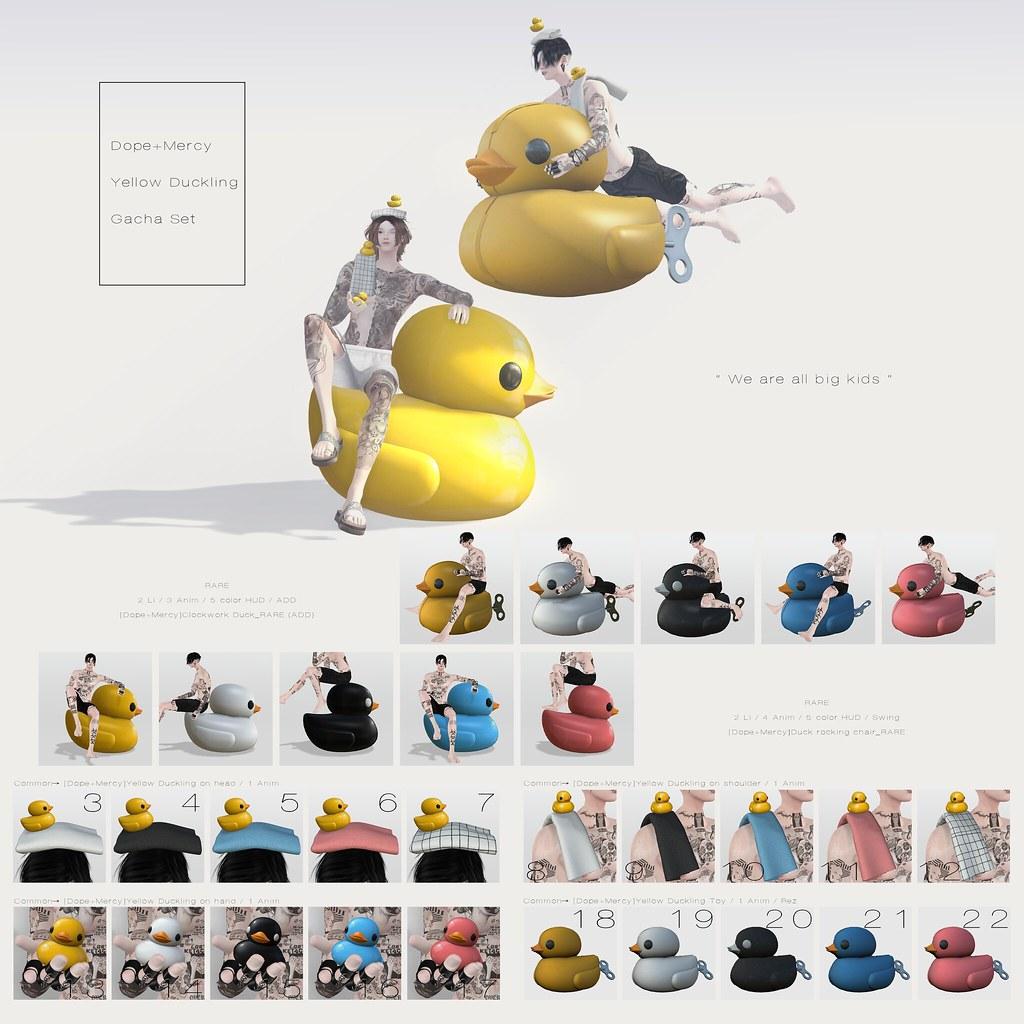 [Dope+Mercy]Yellow Duckling gacha set