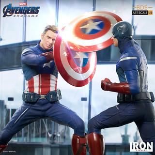 一場「美國翹臀」的頂尖對決! Iron Studios Battle Diorama 系列《復仇者聯盟:終局之戰》美國隊長(Captain America)雙版本同時參戰!