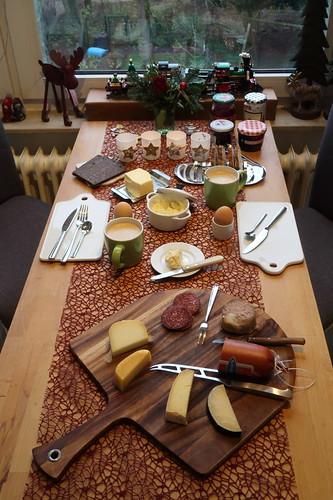 Frühstück am Morgen des Heiligenabends