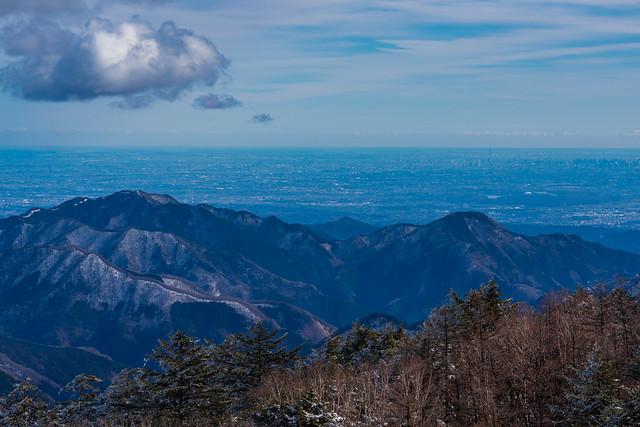 川苔山と本仁田山・・・スカイツリー見えるね