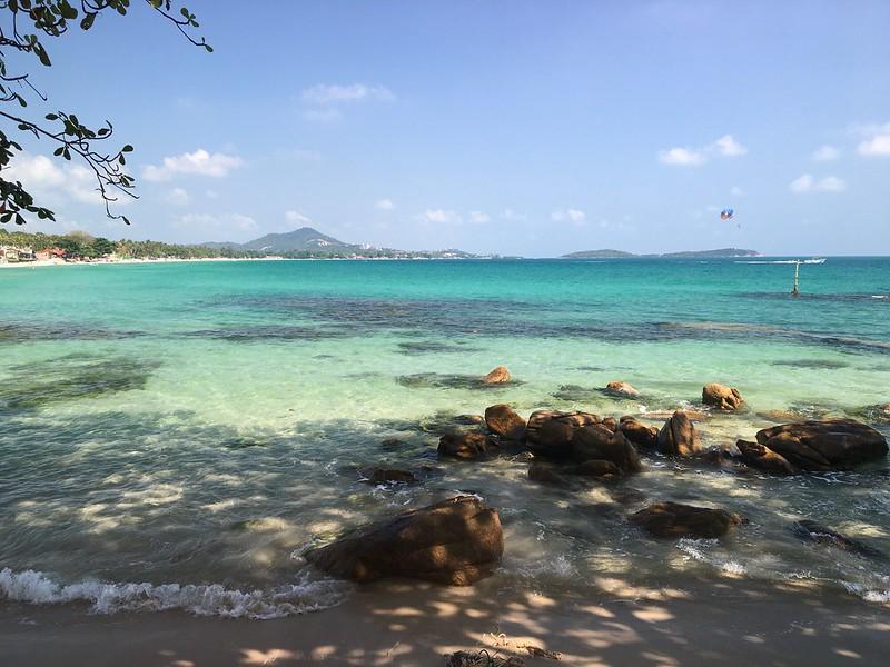 サムイ島 チャウエンビーチ南端🎅koh samui chaweng beach