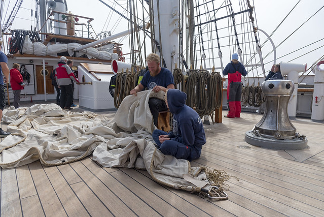 Christian Radich: Sailing from Fredrikstad to Bergen, Norway