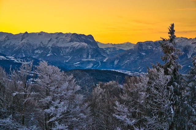 At sunrise on the Gaisberg above Salzburg