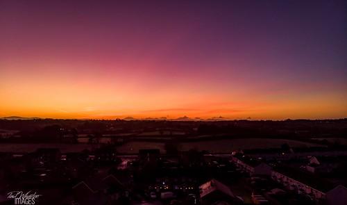 sunrise mavic drone sky red