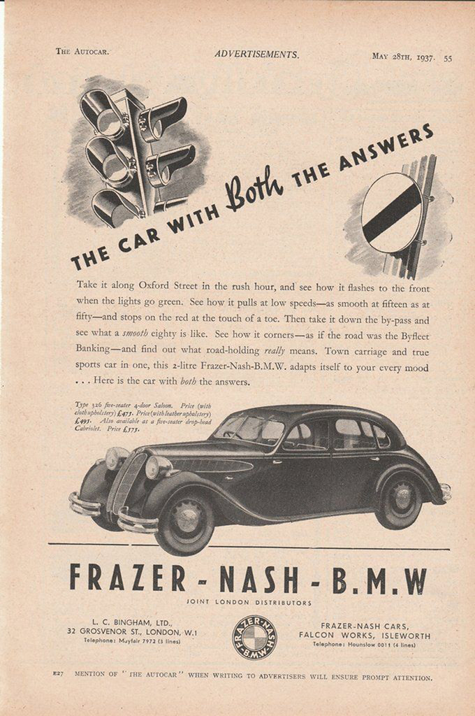 2. 1937 BMW - Frazer-Nash-BMW model 326
