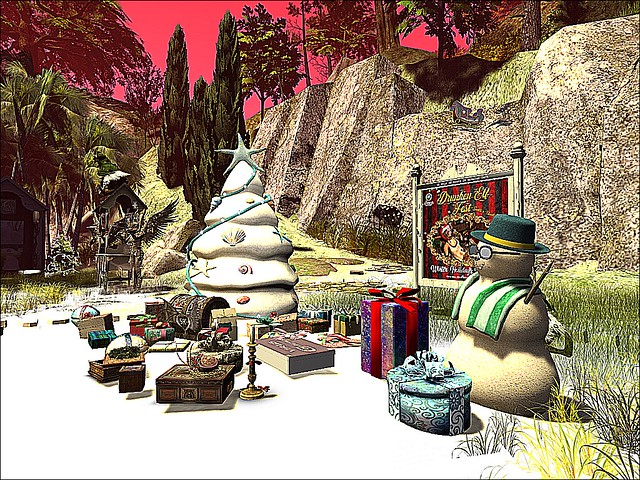 Drunken Elf Fest - Santa's Black Sheep - Presents Under Tree
