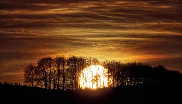 Bramber Xmas Sunset