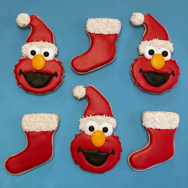 Elmo Christmas Cookies