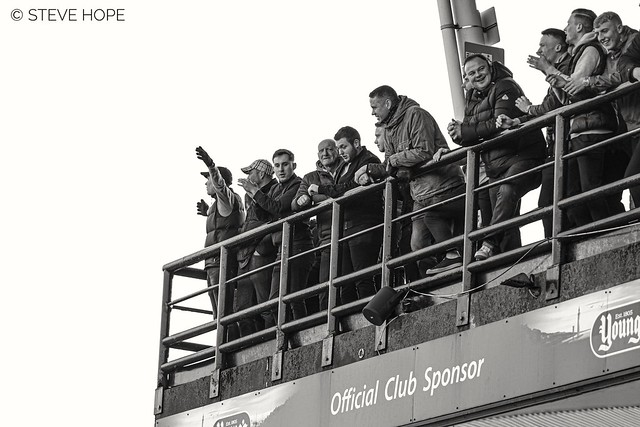 Grimsby Town fans v Scunthorpe United, Blundell Park