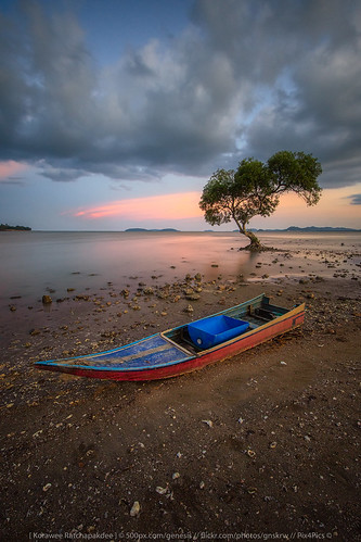 asia background beach blue boat cloud cloudy color dawn destination landscape light natural nature outdoor peaceful red relaxation rock sand scenery scenic sea seascape ship sky southern sunset transportation travel vacation view water wooden mueangchumphon chumphon thailand