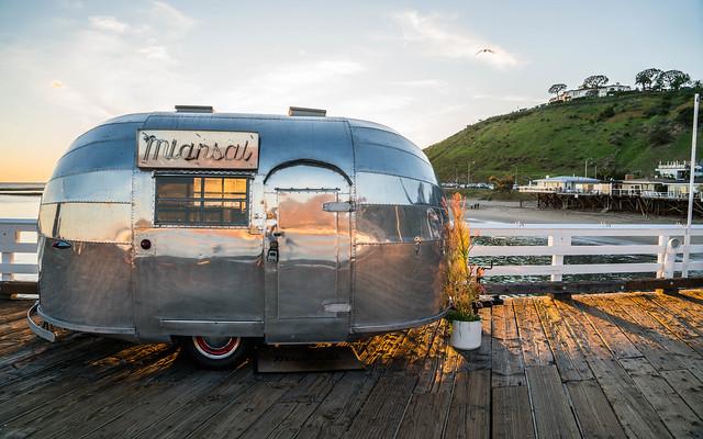 Miansal Airstream Trailer on Malibu Pier - Malibu, California