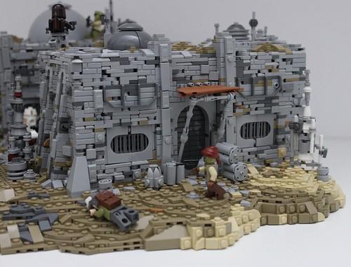 A building on my Nevarro Mandalorian MOC