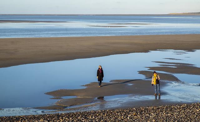 En Baie-de-Somme à marée descendante