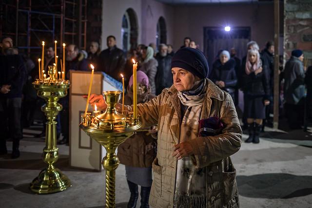 25 декабря 2019 г. Первая  Литургия в Борисовой Гриве