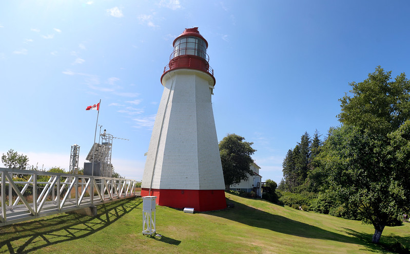 Pachena Point Lighthouse, a historic monument - the new light is on the left near the Canadian Flag