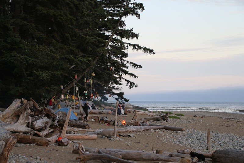 Campfires and Camping on the Beach at the Darling River Campground on the West Coast Trail