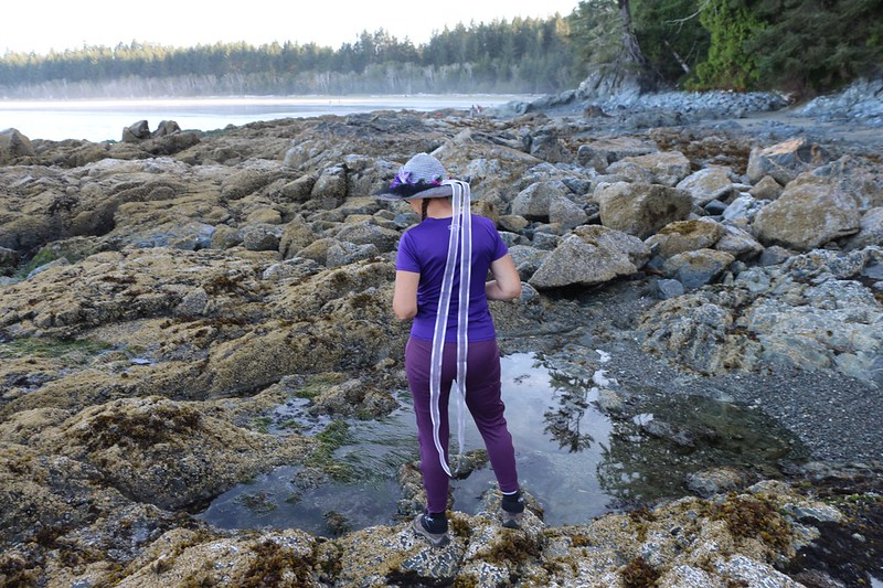 We took a break by the tidepools and rocks at Pachena Bay