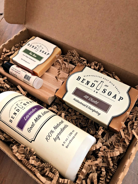 gift box of all-natural cosmetics