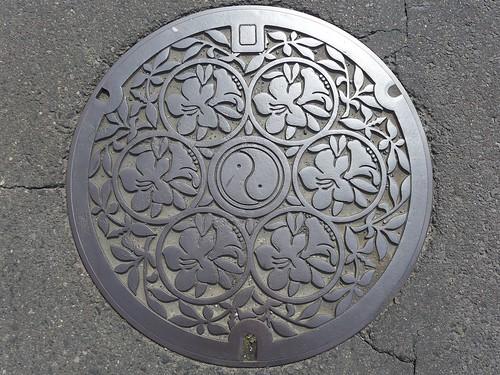 Isesaki Gunma, manhole cover 2 (群馬県伊勢崎市のマンホール2)