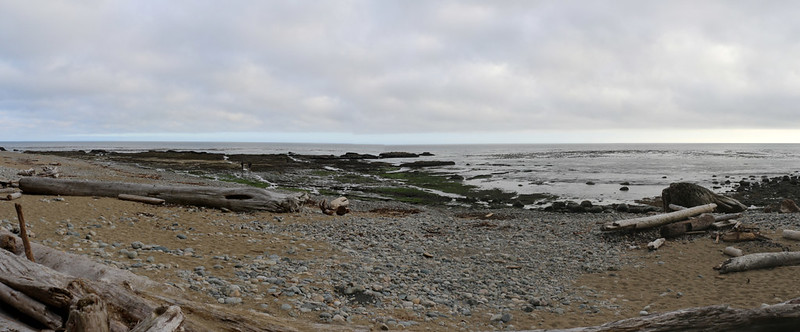Panorama shot from our campsite at Darling River on the West Coast Trail