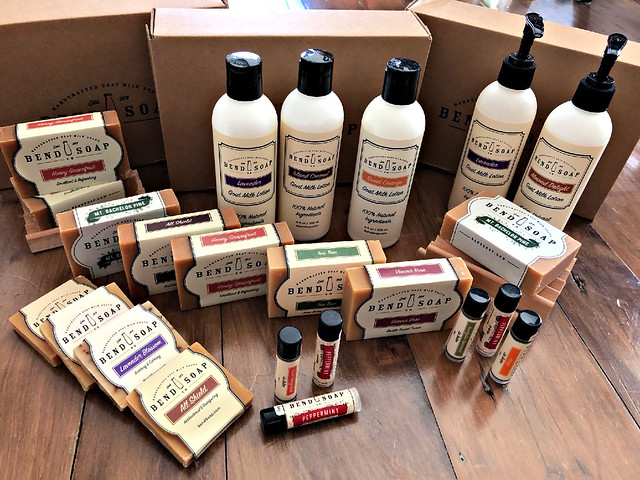 all-natural products from Bend Soap company