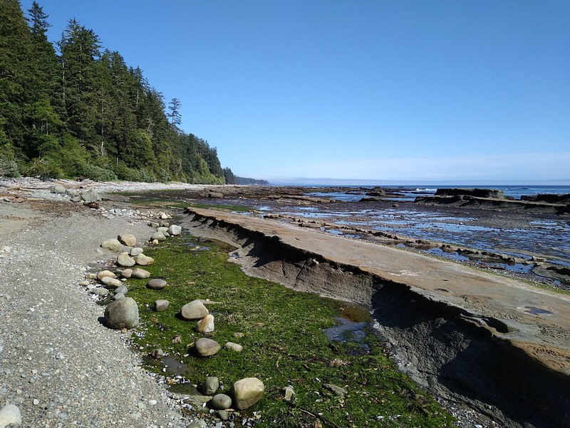 The shoreline looking southeast along Pacific Rim National Park on the West Coast Trail near Michigan Creek