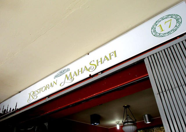 Restoran Mahashafi, shop sign