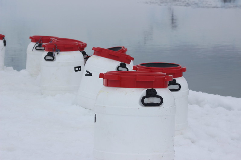 Survival Kits, and snowshoe fitting seats, Neko Harbour