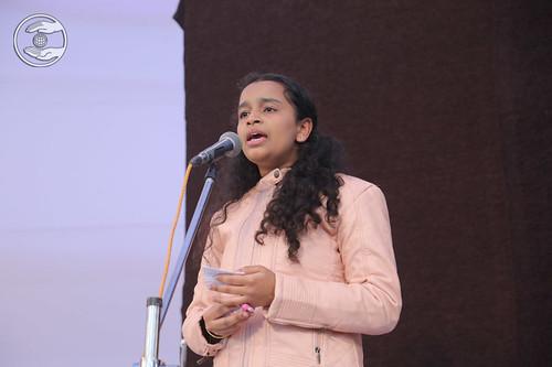 Muskan Ji presented Geet, Lakhimpur, UP