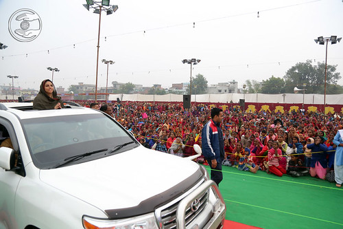 Satguru Mata Ji's arrival at Pandal
