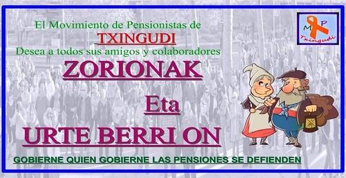 Movimiento de Pensionistas de Txingudi  Zorionak