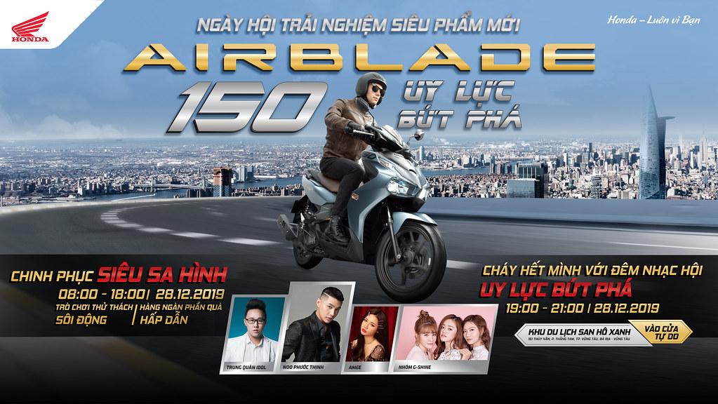 Check-in ngày hội Honda tại Vũng Tàu cùng Noo, Trung Quân Idol, Amee và nhóm G-Shine.