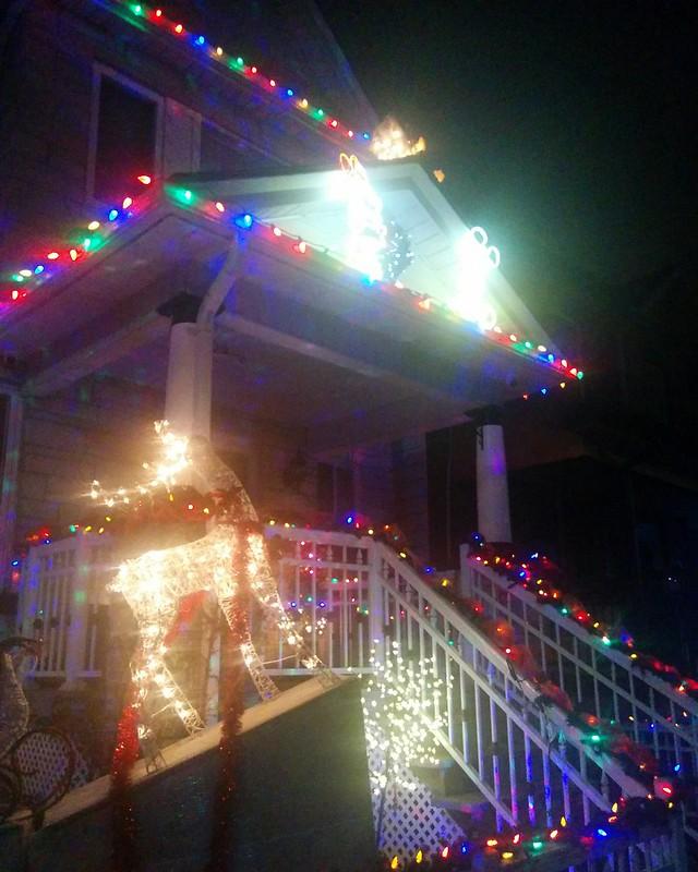 Hallam Fantasia #toronto #dovercourtvillage #hallamstreet #night #christmas #christmaslights #disney #minniemouse #mickeymouse #latergram