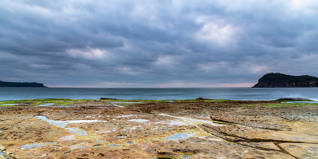 Cloud Cover rolling in Panoramic Seascape