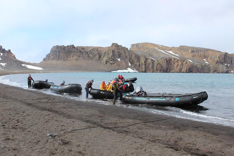 Whalers Bay landing