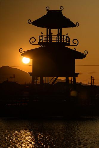磯城郡 奈良県 夕景 sunset 建築物 architecture