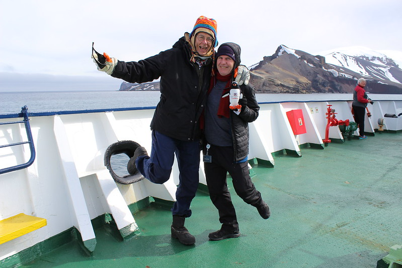 Dr Karl, Me (& Lockie) leaving Deception Island