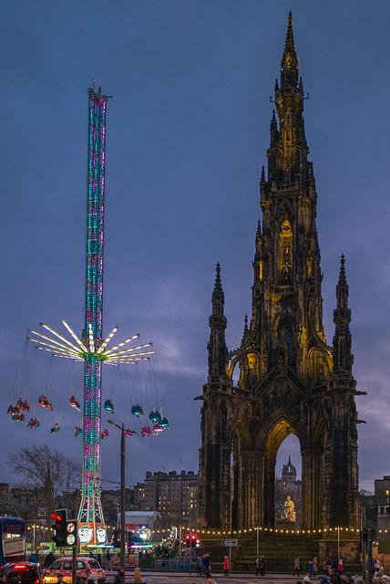 Scott Monument and Star Flyer, Edinburgh