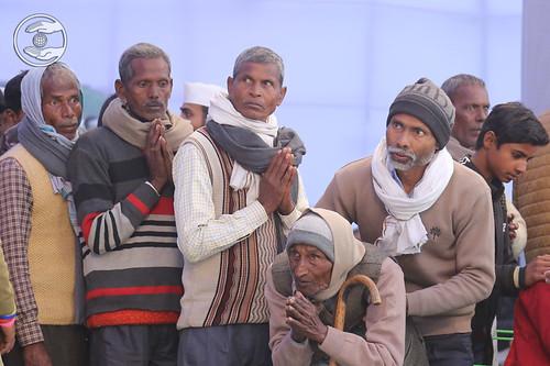 Devotee seeking blessing for the welfare