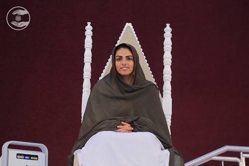 Her Holiness on the holy dais