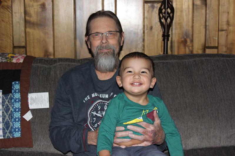 Terry with grandson Senna (Christmas 2019)