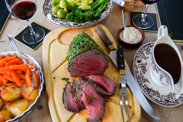 Herb and Mustard Crusted Roast Beef