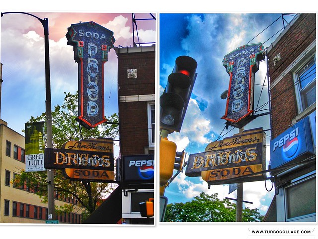 Rockford  Illinois  -Old Rustic Neon Sign -  Parthenios Luncheonette