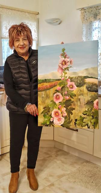 פרידה פירו Frida piro הציירת האמנית הישראלית העכשווית המודרנית הריאליסטית הירושלמית ציירות הציירות אמניות האמניות ציורי פרחים ציורי נוף