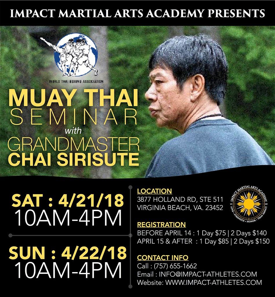 April 2018 Ajarn Chai Sirisute Muay Thai Seminar
