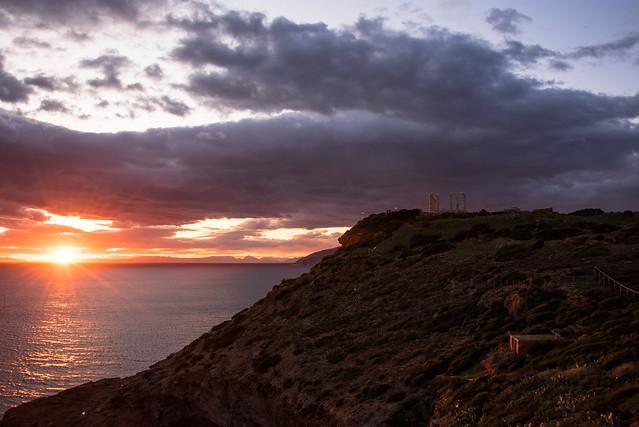 sounion - sunset