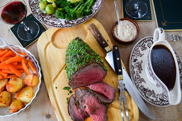 Herb & Mustard Crusted Roast Beef