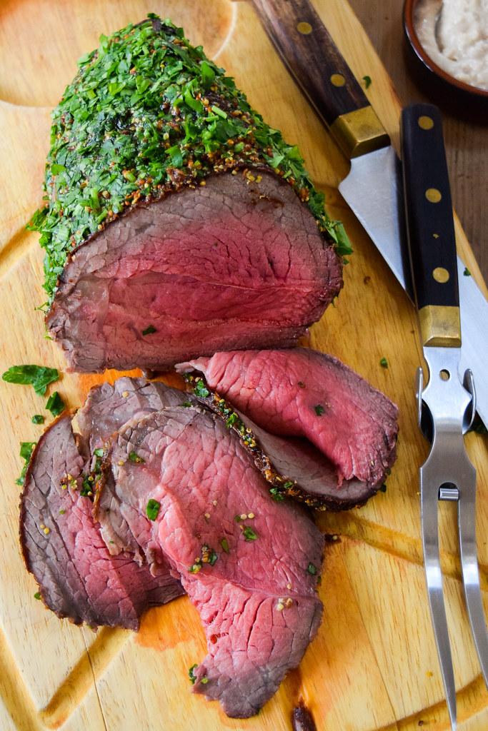 Fresh Herb & Mustard Crusted Roast Beef