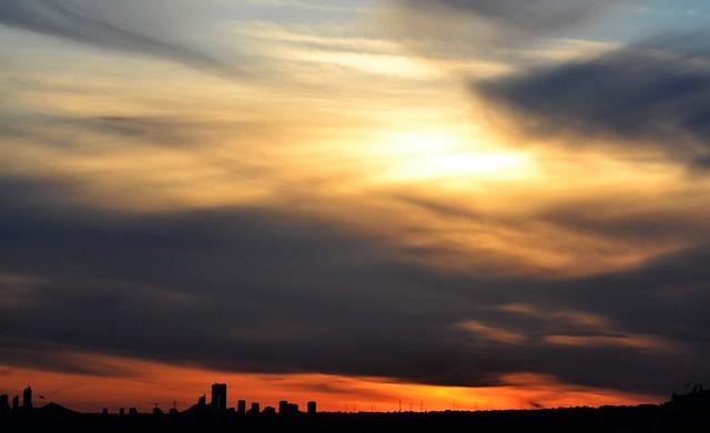 Sunset in Benidorm - Atardece en Benidorm