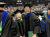 Five doctorate students received their PhDs from the University of Hawai��i at M�noa John A. Burns School of Medicine (JABSOM) in Saturday��s commencement exercise at the University of Hawaii at Manoa on December 21, 2019. They included Brooks Ikaikaokekai Mitchell (right), in biomedical sciences, mentored by Cecilia ShikumaPhoto credit: Mariana Gerschenson.